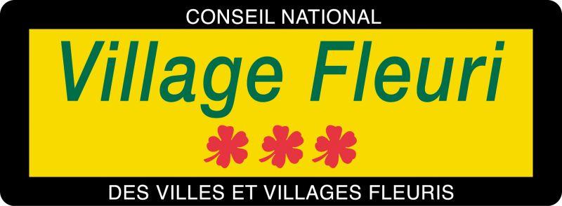 Panneau village fleuri visuel 3fleurs